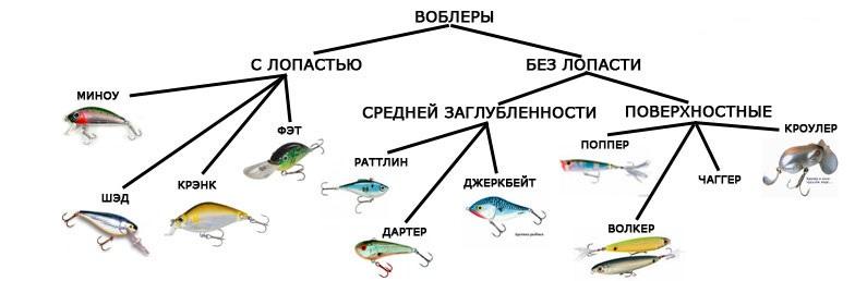 Классификация и виды воблеров
